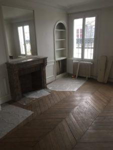 Rénovation appartement séjour Paris 4e