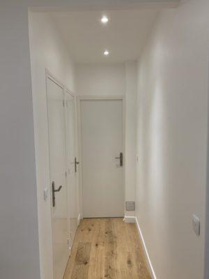 Rénovation appartement couloir Paris 16e
