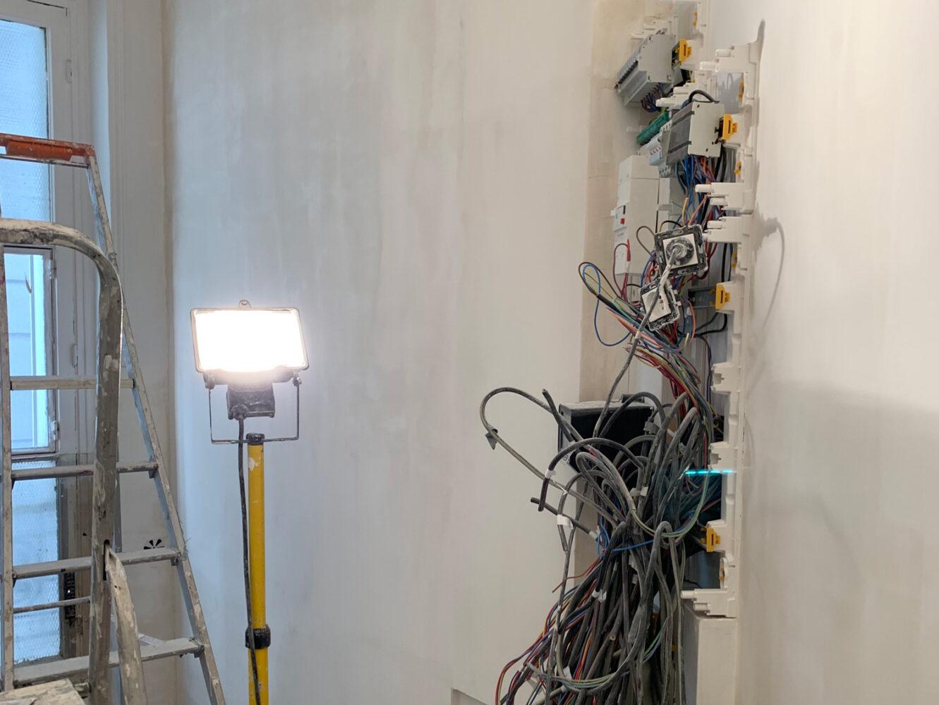 Travaux de rénovation électricité
