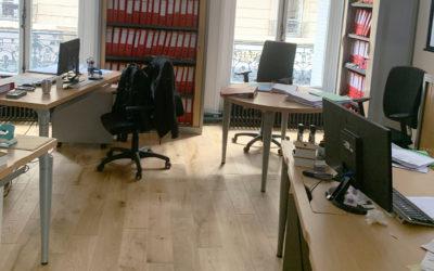 Rénovation complète d'un local commercial (bureau) d'un immeuble Haussmannien dans le 17e arrondissement de Paris