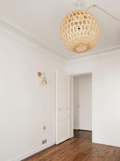 Travaux de rénovation partielle d'un appartement de 45 m² dans le 18e arrondissement de Paris