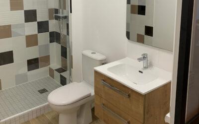 Travaux de rénovation complète d'une salle de bains et partielle dans l'entrée à Suresnes, 95150 (Val-d'Oise)