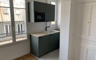 Travaux de rénovation intégrale d'un studio de 20 m² à Paris 15e (75015)