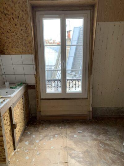 avant - Travaux de rénovation d'une studette - Paris-75004