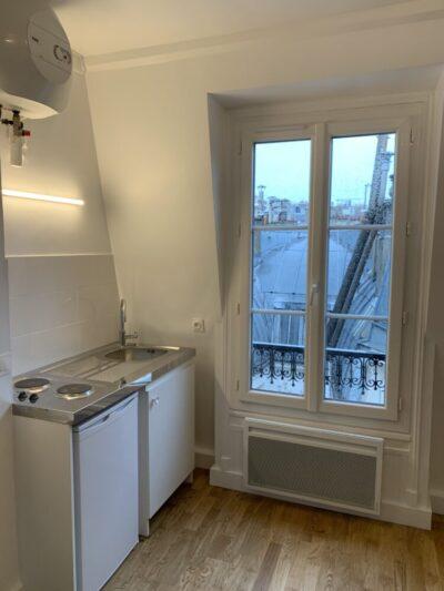 après - cuisine - Travaux de rénovation d'une studette - Paris-75004