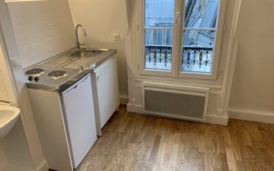 Travaux de rénovation d'une studette de 14 m² à Paris (75004)